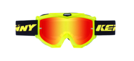 Kenny Track Goggle Fluor Yellow With Red Mirror Lens