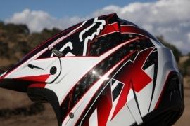 Fox V4 Race Helmet Red Maat S