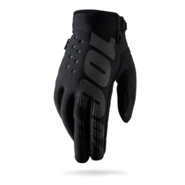 100% Brisker Cold Weather Glove Black Grey Youth