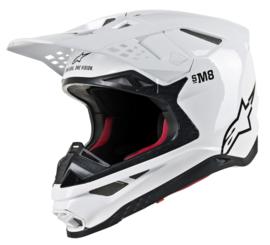 Alpinestars Supertech S-M8 Solid Helmet White Glossy
