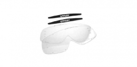 Oakley O2mx 2-pack Clear Roll-Off lens & Mudflaps