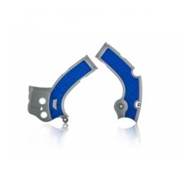 Acerbis X-Grip Framebeschermer YZF250 17-18 YZF450 16-17 Grijs Blauw