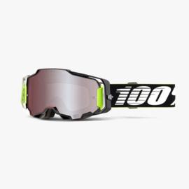 100% Armega Goggle RACR W/HIPER Mirror Silver Lens