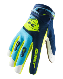 Kenny Track Glove Navy Cyan Neon Yellow Kids 2019