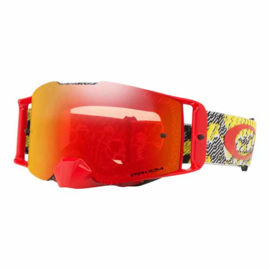Oakley Frontline Dazzle Dyno Red Yellow Prizm Mx Torch Iridium Lens