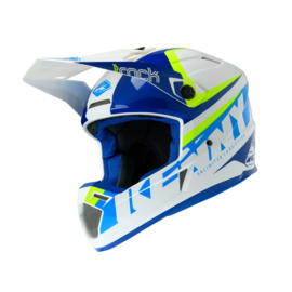 Kenny Track Helm Focus Cyan Neon Yellow 2020