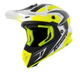 Kenny Titanium Helm White Black Neon Yellow 2021