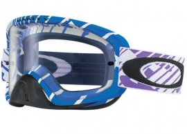 Oakley O2 Mx Skull Rushmore Purple Blue w/Clear Lens
