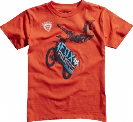 Fox Moto Giant SS Regular Fit Blood Orange T-shirt Jeugd