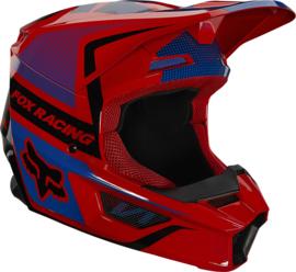 Fox V1 OKTIV Helmet Flo Red 2021