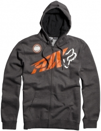 Fox Riptide Zip Front Fleece Hoody Orange