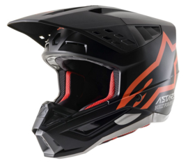 Alpinestars S-M5 Compass Helmet Black Orange Fluo Mat