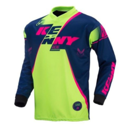 Kenny Track Jersey Youth Navy Lime Fluo Rose Yellow 2017