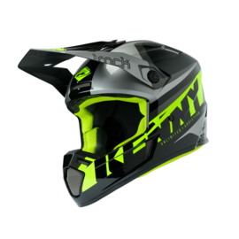 Kenny Track Helm Focus Grey Neon Yellow 2020