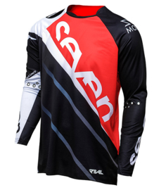Seven Rival Militant Jersey Adult Red Black