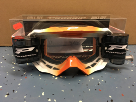 Progrip Orange White 3200 Roll-Off Goggle XL Clear