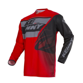 Kenny Track Jersey Youth Grey Red 2018
