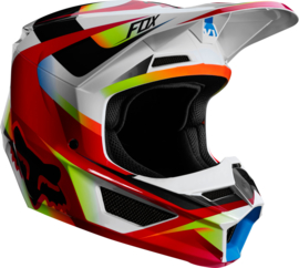 Fox V1 Motif Helmet Red White 2019