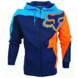 Fox Flight Zip Front Fleece Hoody Blue