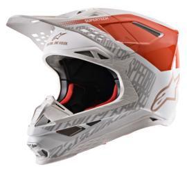 Alpinestars Supertech S-M8 Triple Helmet Orange White Gold 2020