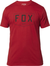 Fox Shield SS Premium Tee Donker Rood