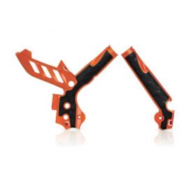 Acerbis X-Grip Framebeschermer SX/SX-F 11-15 EXC/EXC-F 12-16 Oranje Zwart