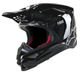 Alpinestars Supertech S-M8 Solid Helmet Black Glossy