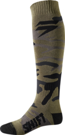 Shift White Label Sock Green Camo