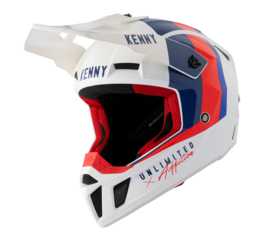 Kenny Performance Helm White Blue Red 2021