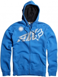 Fox Riptide Zip Front Fleece Hoody Blue