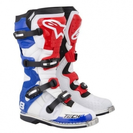 Alpinestars Tech 8RS Boots Rood Wit Blauw