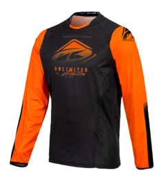 Kenny Titanium Jersey Black Orange 2021