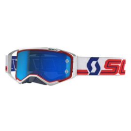 Scott Prospect Red White W/Electric Blue Chrome lens