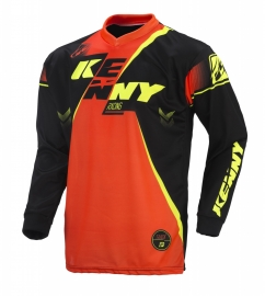Kenny Track Jersey Youth Black Neon Orange