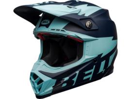 Bell Moto-9 Flex Breakaway Matte Navy/Light Blue