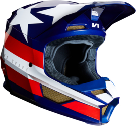 Fox V1 Regl SE Helmet White Red Blue 2019