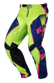 Kenny Track Pant Youth Navy Lime Pink 2017
