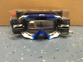 Progrip White Dark Blue 3200 Roll-Off Goggle XL Clear