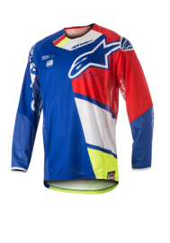 Alpinestars Techstar Factory Jersey Blue Red White