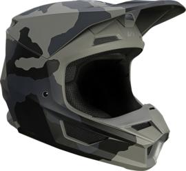 Fox V1 Helmet Trev Black Camo 2022 Youth
