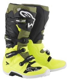 Alpinestars Tech 7 Boots Yellow Fluo Military Green