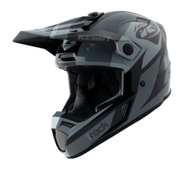 Kenny Track Graphic Helm Black Grey 2021