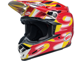 Bell Moto-9 Mips McGrath Replica Gloss Red/Geel/Chrome