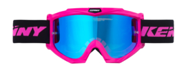 Kenny Track Goggle Pink With Mirror Blue Lens Youth