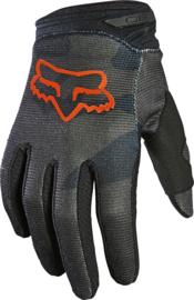 Fox 180 Trev Glove Black Orange Youth 2021
