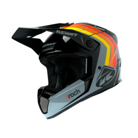 Kenny Track Helm Victory Black Grey Orange 2020