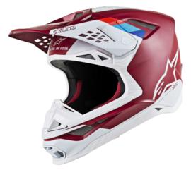 Alpinestars Supertech S-M8 Contact Helmet Dark Red White