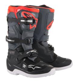Alpinestars Tech 7S Boots Zwart Grijs Fluor Rood