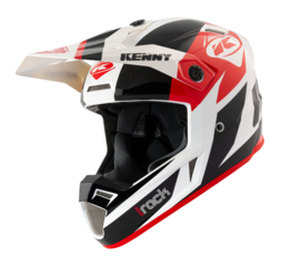 Kenny Track Graphic Helm Black Red 2021