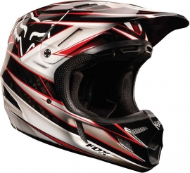 Fox V4 Race Helmet Red Maat S
